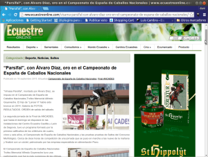 Hipica Porceyo Parsifal en Ecuestre Online