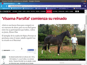 Hipica Porceyo Parsifal en Prensa, El Comercio