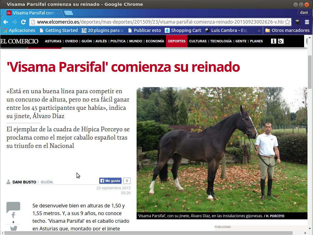 Parsifal en Prensa, El Comercio